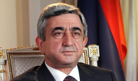 Серж Саргсян: Армения решительно настроена совместными усилиями продолжать борьбу против насилия и терроризма