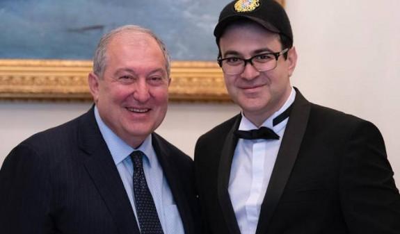 Президент Армении встретился с Гариком Мартиросяном