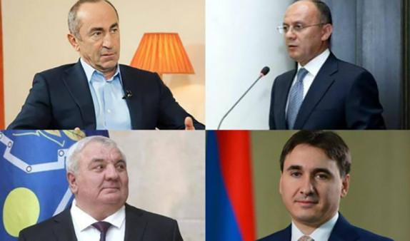 Стало известно, кто из судей будет рассматривать дело в отношении Кочаряна и трех бывших высокопоставленных чиновников