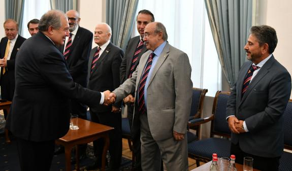 Армен Саркисян принял делегацию Всемирного комитета Всеармянских игр