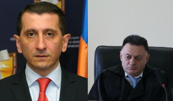 В Генпрокуратуре Армении рассказали о судьбе заявлений судьи по делу Кочаряна и адвоката Сируняна