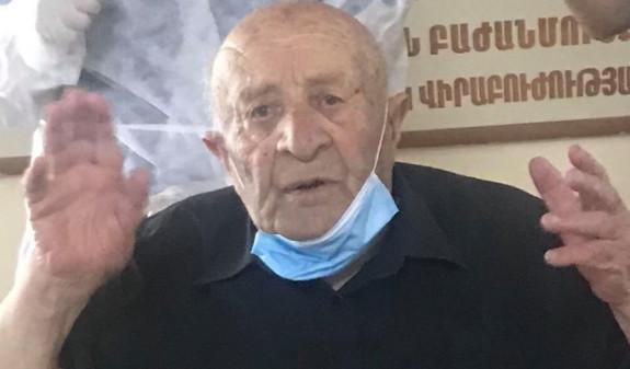 Հայրենական մեծ պատերազմի վետերան, 99-ամյա Մեխակ Ավետիսյանը բուժվել է կորոնավիրուսից