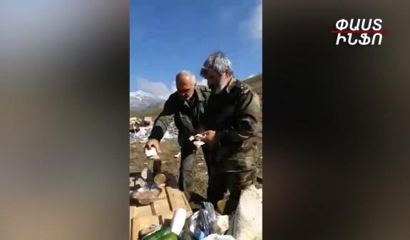 Տեսանյութ.Բացառիկ կադրեր. «Սև հովազ»  ջոկատի հրամանատարի նախավերջին նախաճաշն՝ առաջնագծում